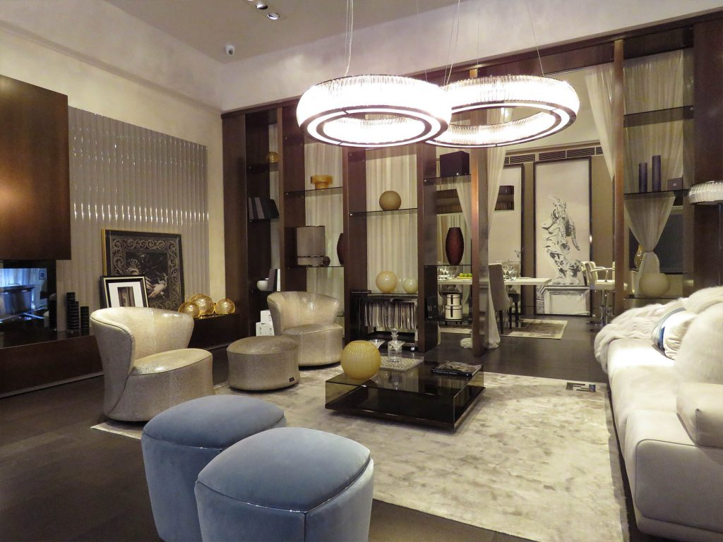 commercial construction, design, london, fendi